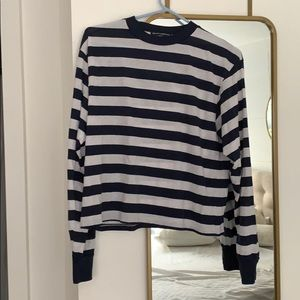 Brandy Melville - Striped Navy Long Sleeve